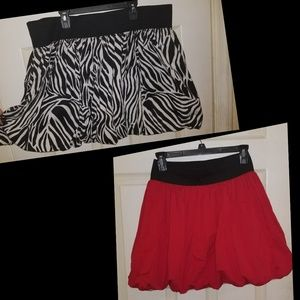 Two Bubble Skirts